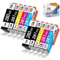 Starink Compatible Ink Cartridge Replacement for Canon 280 281 PGI-280XXL CLI-281XXL for Pixma TS6120 TS6220 TR7520 TR8520 TS6320 TS9520 TS9120 TS8120 TS8220 TS702 Printer, 10 Packs