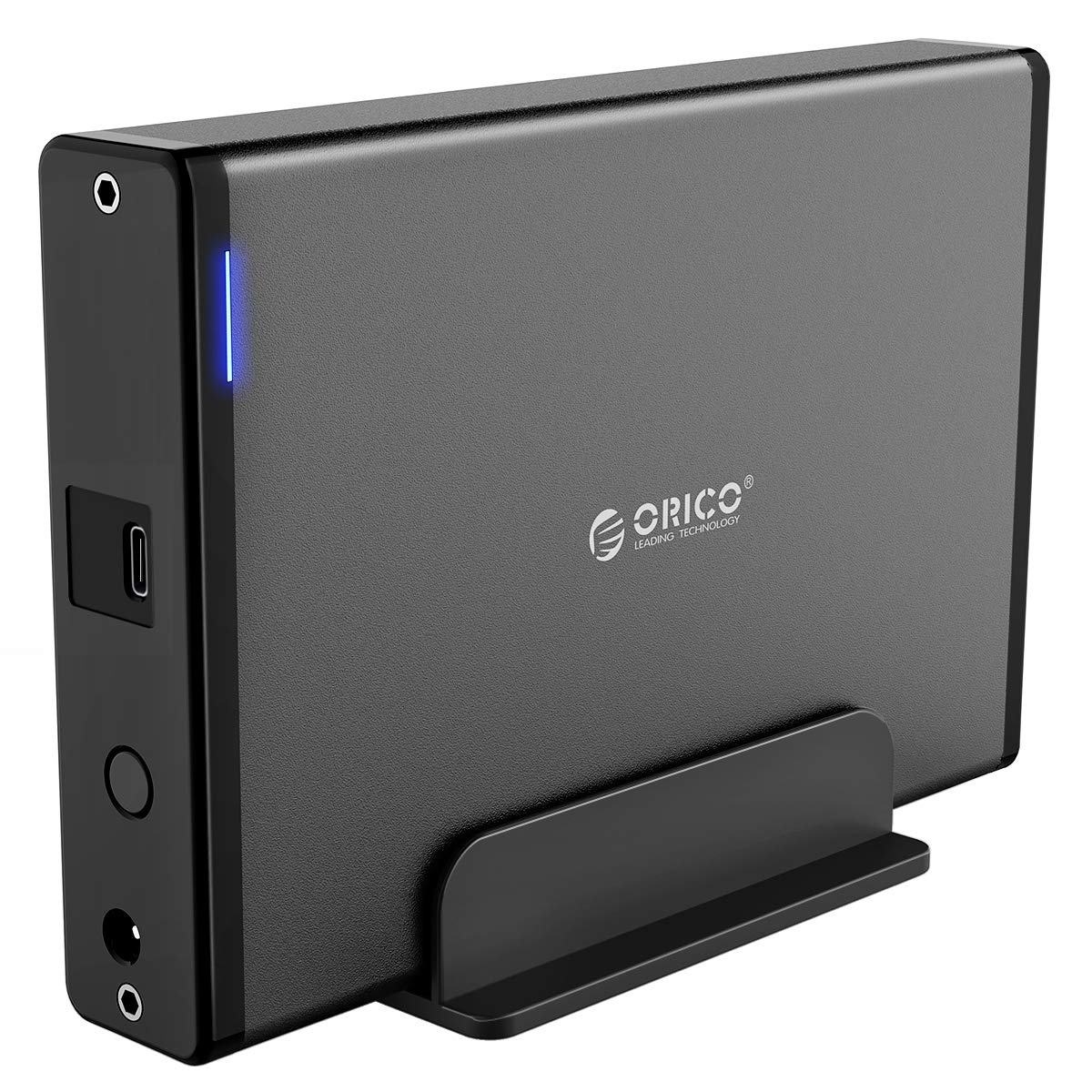 ORICO Aluminum 3.5 inch Type-C External Hard Drive Enclosure for 3.5 inch SATA HDD/SSD [Support 16TB & UASP]