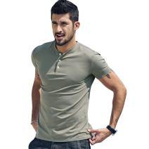 Flow.month Men's Fashion Casual Cotton V Neck Henley T Shirts