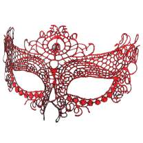 BaiYunPOY Mardi Gras Mask Masquerade Womens Venetian Party Lace Masks for Dance Carnival