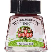 Winsor & Newton Drawing Ink Bottle, 14ml, Scarlet