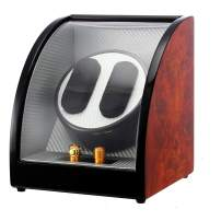 CHIYODA Automatic Double Watch Winder Unique Design with Display Window, 3 Direction and 4 TPDS Modes Available