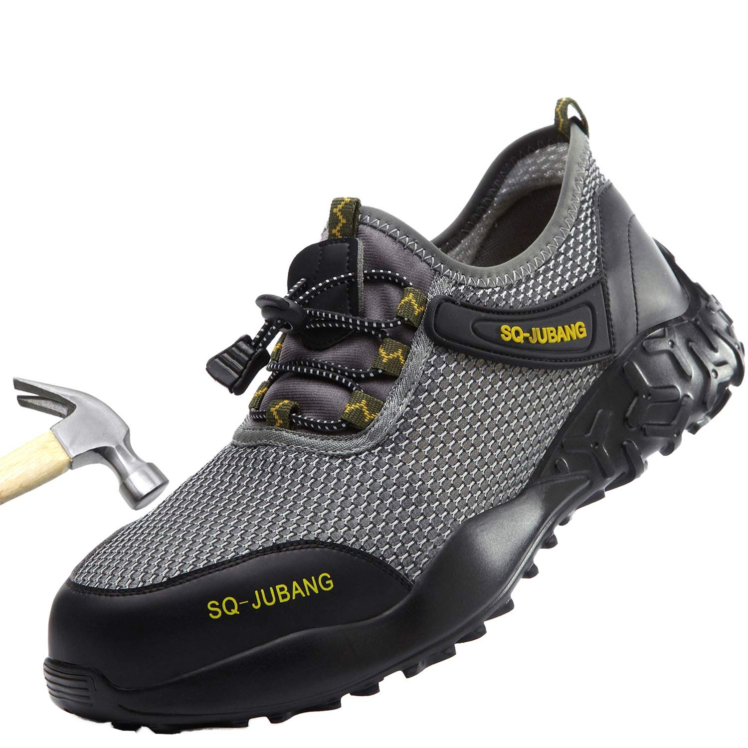 MARITONY Indestructible Shoes Steel Toe Work Shoes for Men and Women Non Slip Safety Shoes Lightweight Breathable Industrial Construction Shoe