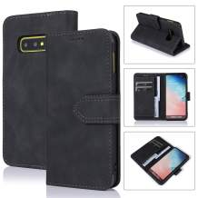 ZCDAYE Wallet Case for Samsung Galaxy S10e,Magnetic Closure Premium PU Leather Folio Flip Cover with Kickstand Card Slots for Samsung Galaxy S10e - Black
