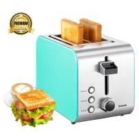 """Toaster Prime Rated, EPLIANS 1.5"""" 2 Slice Wide Slot Toaster, 7 Adjustable Browning Settings with Removable Crumb Tray, Extra Wide Slot Compact Stainless Steel Toasters for Bread Waffles"""
