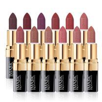 CCbeauty Matte Lipstick Set of 12 Natural Color Moisturizer Long Lasting Women Makeup Lipstick Waterproof,Nude
