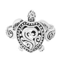 WILLOWBIRD Oxidized Sterling Silver Textured Animal Scrollwork Ring for Women (Various Sizes)