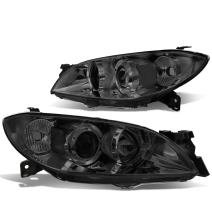 DNA Motoring Smoked clear HL-OH-MM304-SM-CL1 Headlight Assembly (Driver & Passenger Side)
