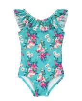 RuffleButts Baby/Toddler Girls Ruffle Strap One Piece Swimsuit w/UPF 50+ Sun Protection
