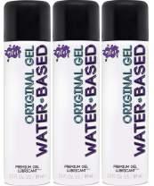 Wet Original Water Based Lube, Best Premium Gel Personal Lubricant, Longest Lasting Formula Condom-Safe (Vegan, Ph-Balanced, Hypoallergenic, Paraben-Free) 3 Ounce (3-Pack)