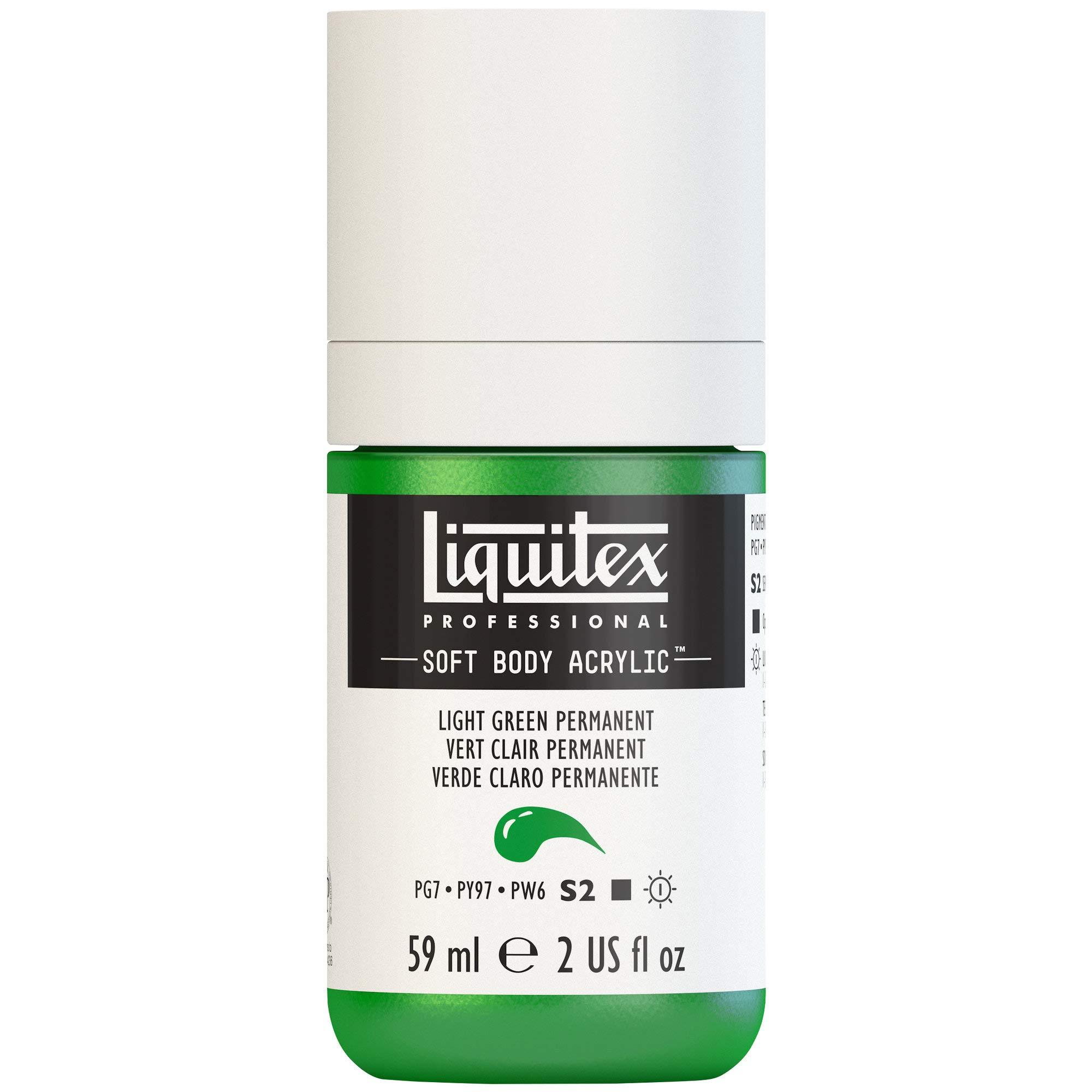 Liquitex Professional Soft Body Acrylic Paint 2-oz bottle, Light Green Permanent