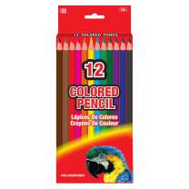 BAZIC 12 Color Pencil, Vibrant Colored Pencils Set Soft Core Pigments, for Art Drawing Coloring Book Sketching Painting Indoor Activity at Home, Gift for Adults Kids (Box of 24)