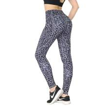 SS COLOR FISH High Waisted Leggings for Women,Leopard Workout Leggings with Tummy Control,Yoga Pants with Pockets for Women