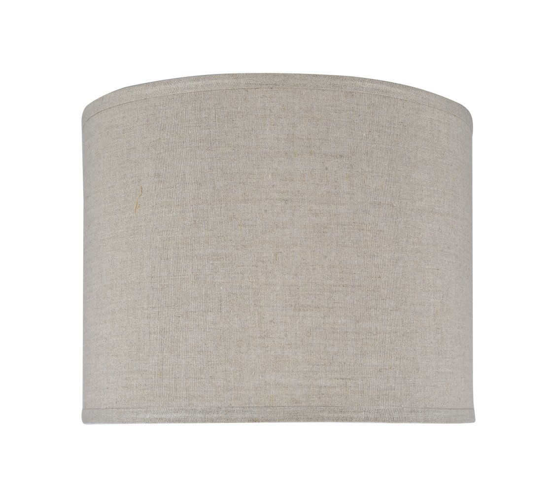 """Aspen Creative 31037 Transitional Hardback Drum (Cylinder) Shape Spider Construction Lamp Shade in Grey, 14"""" wide (14"""" x 14"""" x 11"""")"""