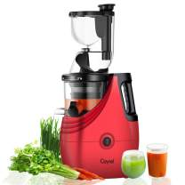 "Caynel Slow Masticating Juice Extractor,Cold Press Juicer Machine with 3"" Wide Chute for Fruit and Vegetable,High Yield Vertical Juicer,BPA Free(Red)"