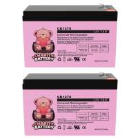 Charity Battery CB1270 12V 7Ah Bruno Electra-Ride Stairlifts Battery MK Battery ES7-12 Replacement - 2 Pack