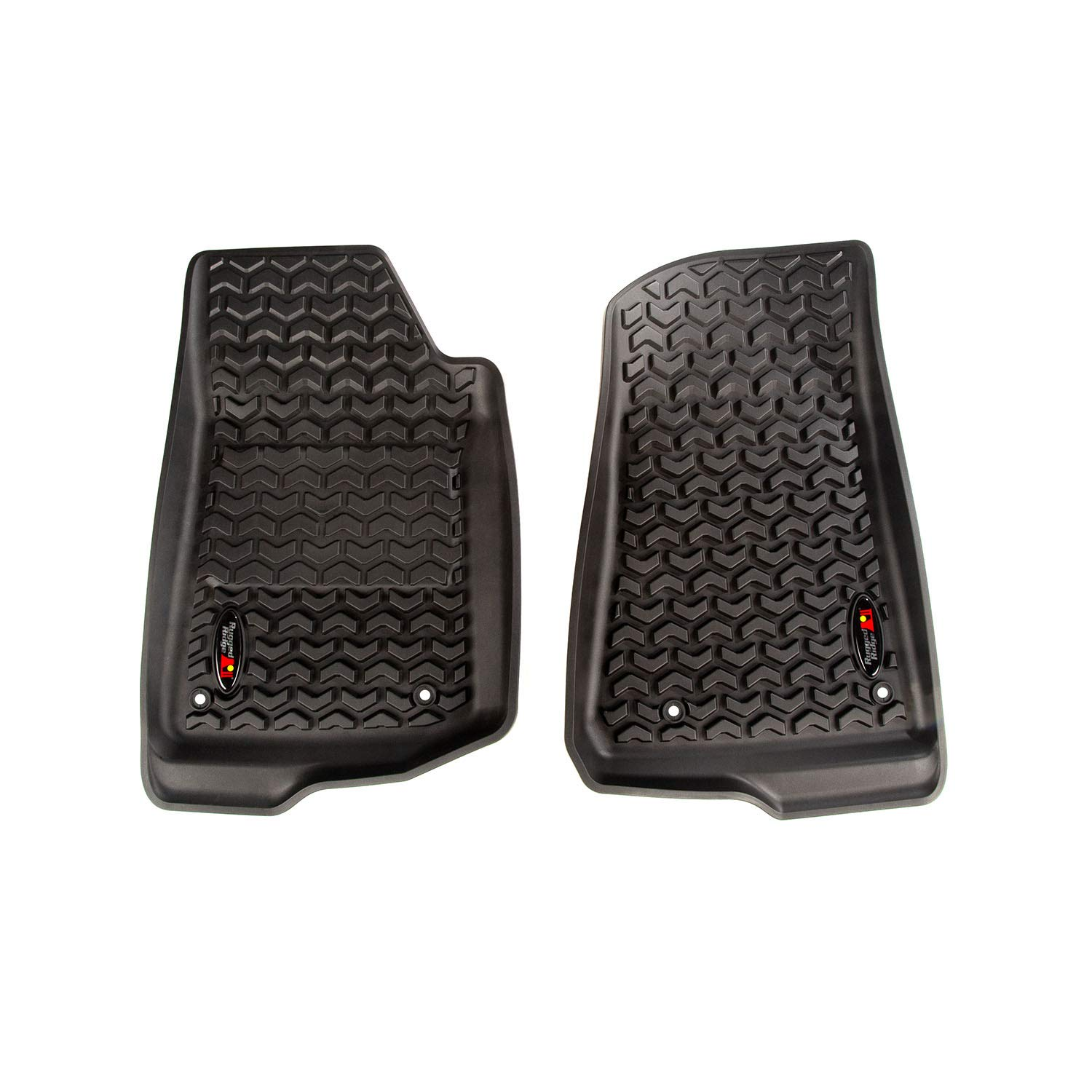 3D MAXpider Jeep Gladiator JT 2020 Custom Fit All-Weather Car Floor Mats Liners Kagu Series 1st /& 2nd Row, Black