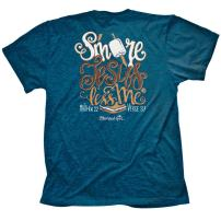 Cherished Girl Women's S'More Jesus T-Shirt -Antique Sapphire-