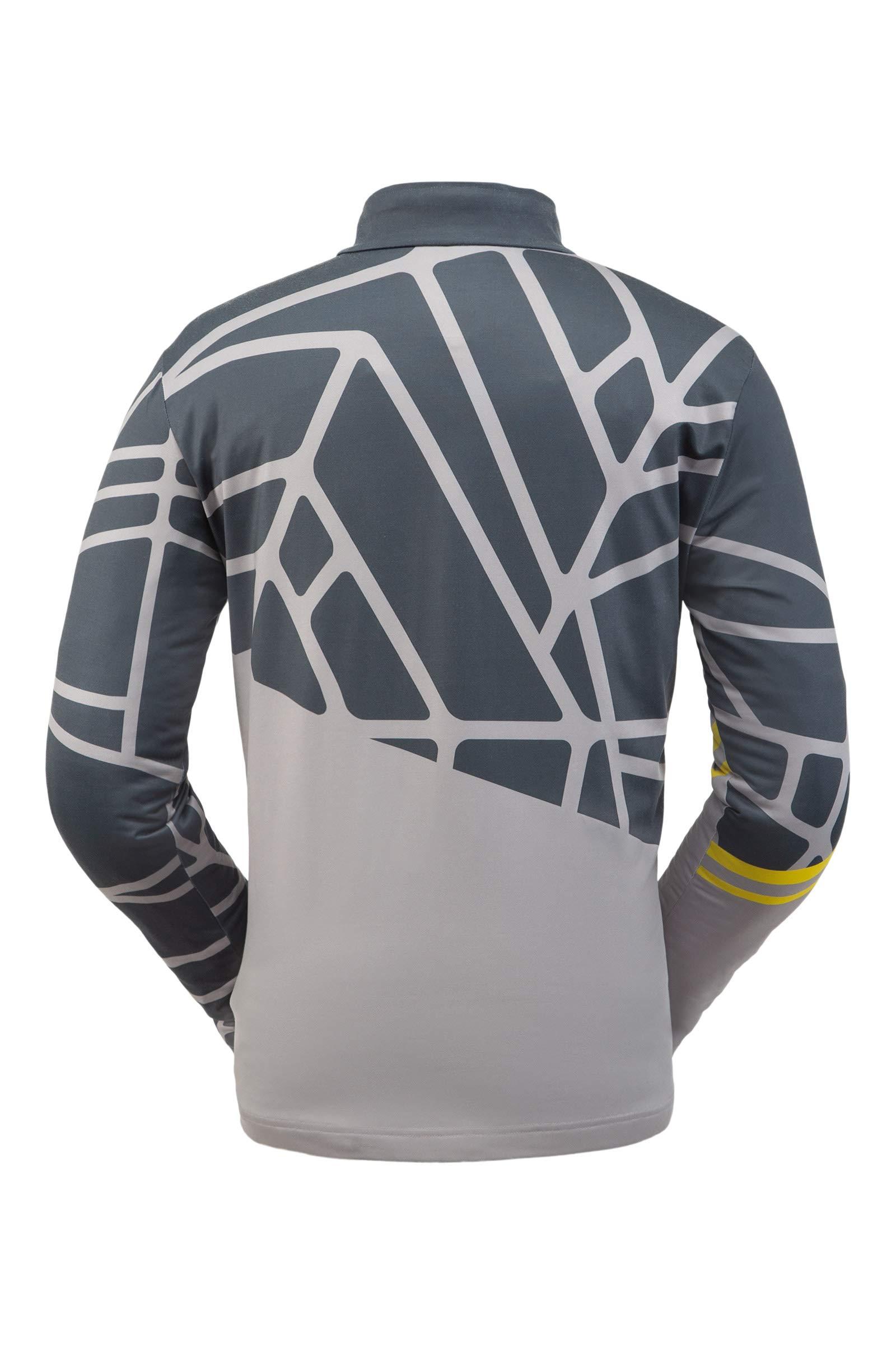 Spyder Men's Vital Zip T-Neck – Pullover Long Sleeve Active Shirt