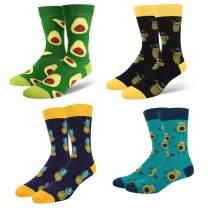 HAPPYPOP Men's Taco Donut Pizza Pineapple Avocado Socks,Novelty Food Design Gift