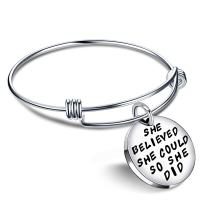 Graduation Gifts Bracelets for Women Valentine Bangle Bracelets for Girl - She Believed She Could So She Did (Style B)