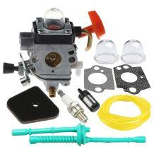 Hilom C1Q-S174 Carburetor with Air Fuel Filter Tune Up Kit for STIHL FS87 FS90 FS100 FS110 HT100 HT101 HL100 HL90 Carb Trimmer Replaces # 4180 120 0604 4180 120 0611