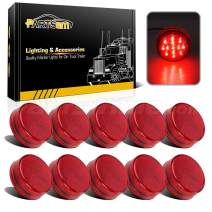 """Partsam 10x 2.5"""" Round Side Marker light Clearance 13 Diodes Universal Use Sealed Red, 2.5 round led marker lights, 2.5 round led clearance lights, 2.5 round led trailer lights"""