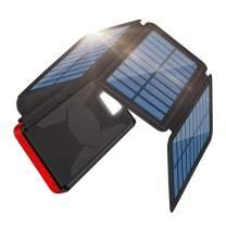 SolarCharger26800mAhPortablePowerBankExternalBatteryChargerPackForOutdoor,2Inputs2USBOutputs,Water-ResistantPhoneChargerwithLEDFlashlightCompatibleMostPhones,TabletsandMore