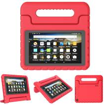 "TIRIN Kids Case for All-New Fire 7 2019 - Light Weight Shock Proof Convertible Handle Stand Protective Kid-Proof Case for All-New Amazon Fire 7 Tablet(9th Generation - 2019 Release)(7"" Display), Red"