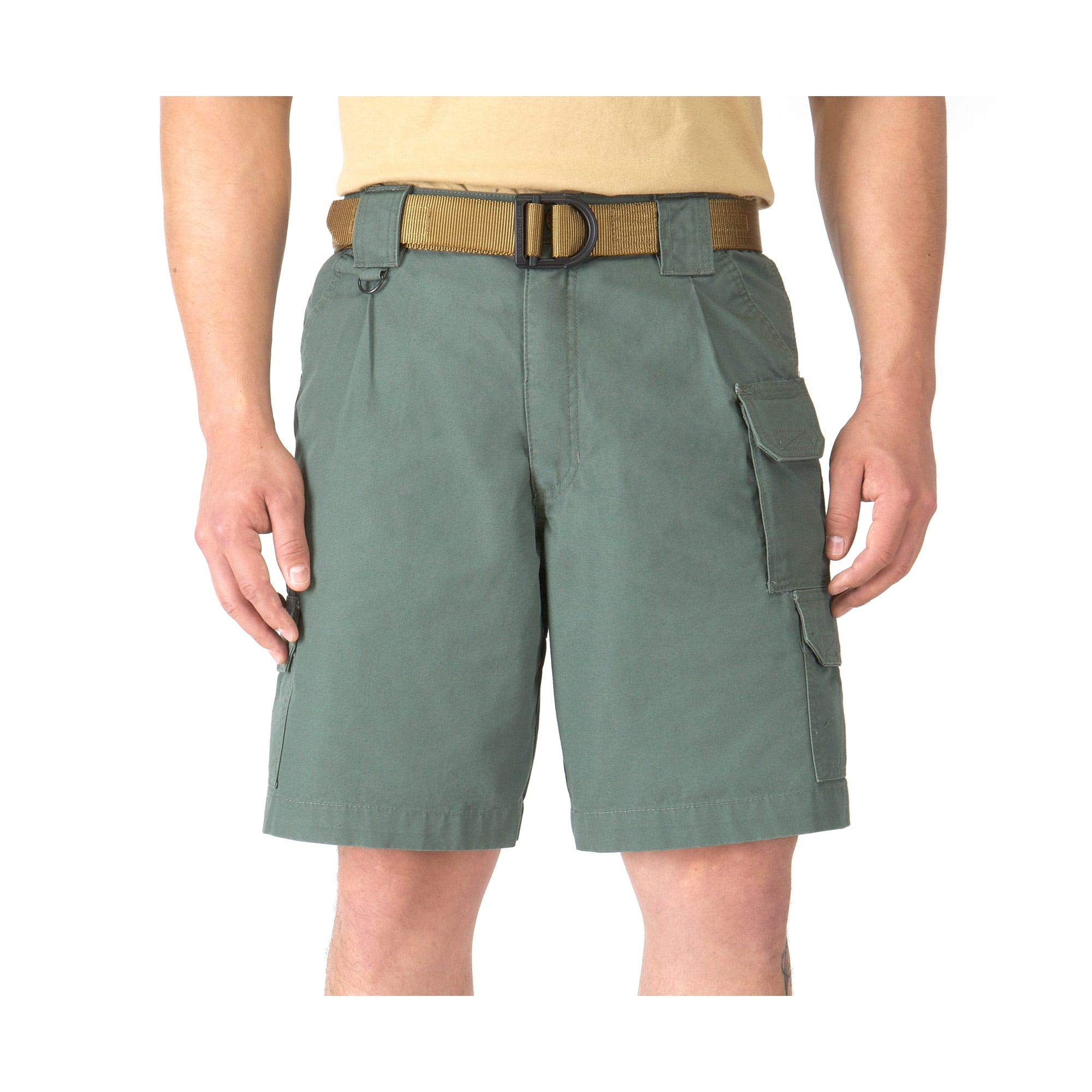5.11 Tactical Men's 9-Inch Work Shorts, Cotton Canvas Fabric, Action Waistband, 7 Pockets, Style 73285