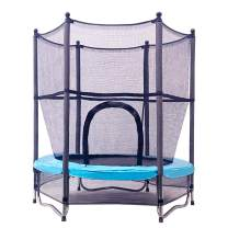 JumpTastic Trampoline for Kids, 55'' Mini Trampoline with Net W-Shaped Steel Frame for Kids Toddlers Baby