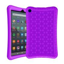 AVAWO Silicone Case for Amazon Fire 7 Tablet with Alexa (7th & 9th Generation, 2017 & 2019 Release - Anti Slip Shockproof Silm Light Weight Protective Cover, Purple