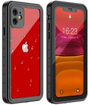 Huakay iPhone 11 Waterproof Case, Full Body 360° Protective Shockproof Dirtproof Sandproof IP68 Phone Case for iPhone 11 (6.1inch)