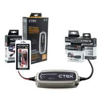 CTEK (40-206) MXS 5.0-12 Volt Battery Charger and Maintainer and Family Garage Kit