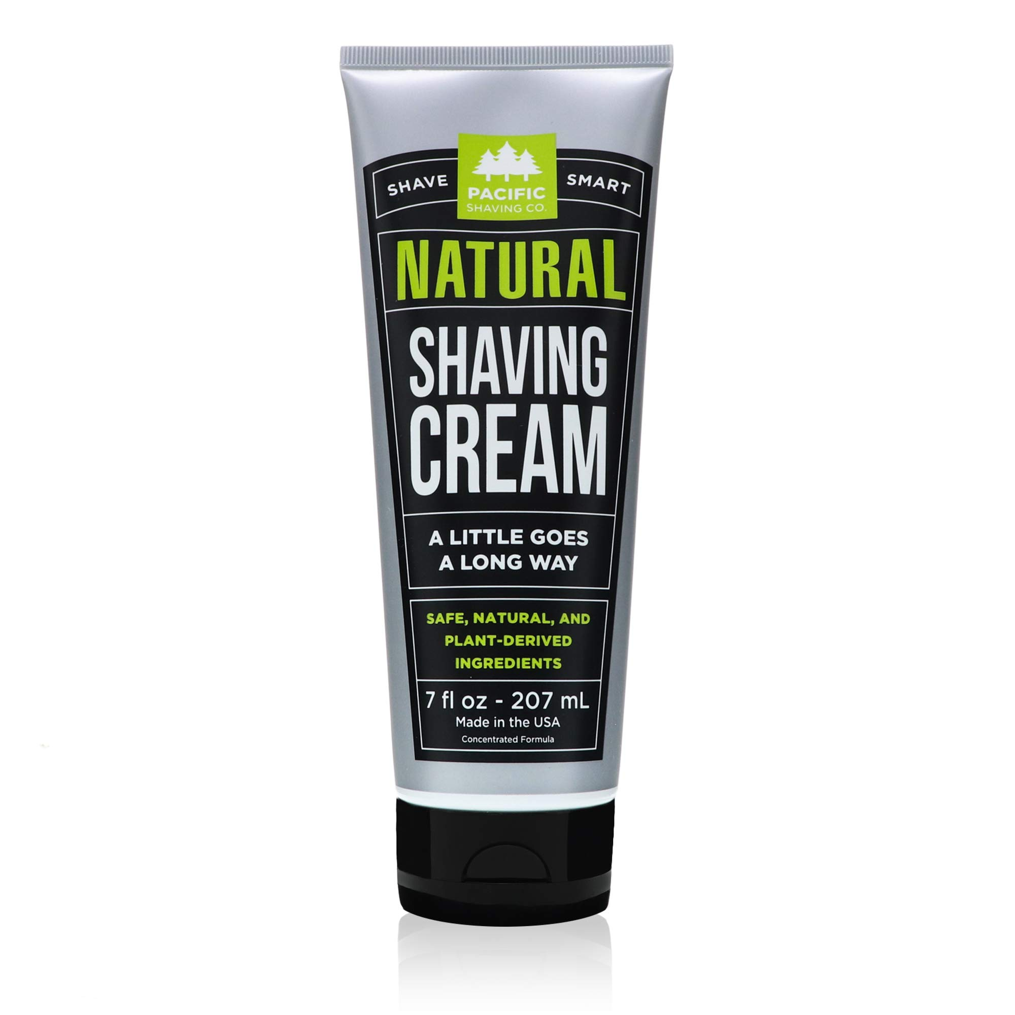 Pacific Shaving Company Natural Shave Cream - with Safe, Natural, Plant-Derived Ingredients for a Smooth Shave, Healthy, Hydrated, Softer Skin, Less Irritation, Cruelty-Free, Made in USA, 7 fl. oz