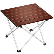 EDEUOEY Aluminum Folding Camping Table: Roll up Top Waterproof Bag Family Cooking Hiking Sand Picnic Low Mini Compact End Backpacking Outdoor Beach Collapsible Lightweight Small