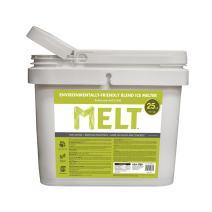 Snow Joe MELT25EB-BKT 25-lb Flip-Top Bucket W/Scoop Melt Premium Environmentally + Pet Friendly Blend Ice Melt