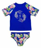 Tommy Bahama Girls' 2-Piece Rashguard and Swim Bottoms Set