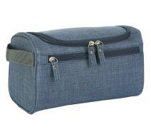 iSuperb Hanging Toiletry Bag Travel Bag Water Resistant Lightweight Wash Gym Shaving Bag Organizer for Women Men (Frosted Navy)