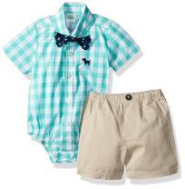 Little Me Baby Boys' Woven Bodysuit and Short Set