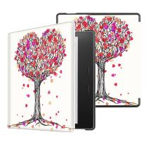 Fintie Slimshell Case for Kindle Oasis (10th and 9th Gen, 2019 and 2017 Release) - Premium PU Leather Lightweight Protective Cover, Autumn Love