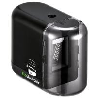 EX-20 Colored Pencil Sharpener - Electric Battery & AC Powered - For All Artist Drawing Pencils 6-8mm - Multiple Sharpness Settings - Fast Quiet Portable Sharpening - AC/USB Adapter Included