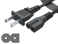 Pwr IEC-60320 IEC320 C7 to NEMA 1-15P Long 6Ft 2 Prong Polarized 2 Slot Power Cord for Arris Router Modem; Vizio Sharp Sanyo Emerson TV; Sony Playstation Speaker System AC Wall Cable