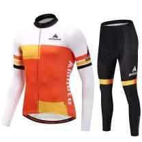 MILOTO Men's Cycling Jersey Set Long Sleeve Padded Pants Suit