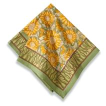 Couleur Nature Sunflower Napkins, 19-inches by 19-inches, Yellow/Green, Set of 6