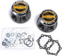 WARN 9062 Premium Manual Locking Hub with Zinc Aluminum Alloy Dial, Dual Seals and 27 Splines, Chrome, 1 Pair