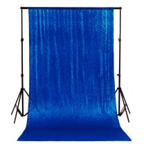 ShinyBeauty 6FTx6FT-Royal Blue-Simple Sequin Photography Backdrop,Sequin Wedding Curtain,Sequin Photo Booth Backdrop