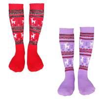 Kalakids Ski Socks Kids 1 Pack / 3 Pack Winter Warm Snowboard Thermal Socks For Boys Girls Toddlers (4-13 Years Kids Xs/S)