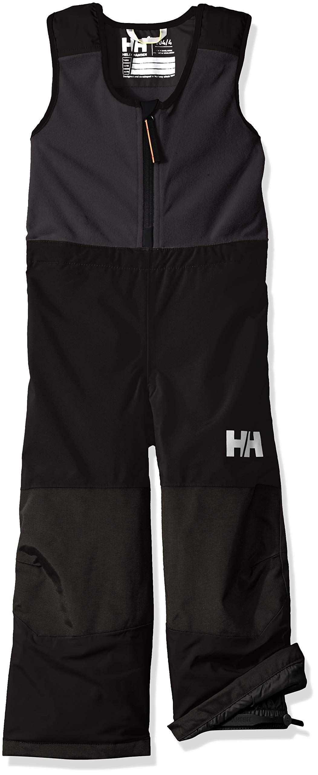 Helly-Hansen Boys Vertical Insulated Fleece Upper Waterproof Legs Bib Pant