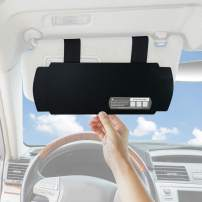 TFY Car Visor Sunshade Sun Visor Extender Sunshade for Windshield and Side Window - Black